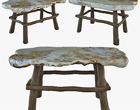 3D model Table of juniper writing