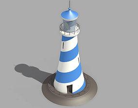 Cartoon Lighthouse 3D asset