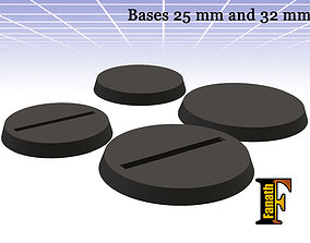 3D print model Base 25mm and 32mm