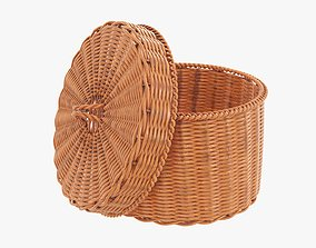 3D Medium wicker box