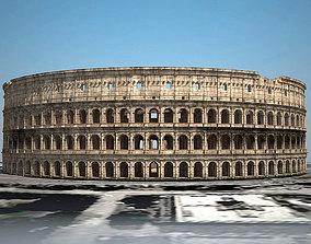 Roman Colosseum Ruins 3D