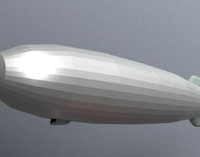 3D model VR / AR ready Airship