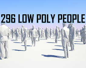 Low Poly People Pack - 296 People 3D asset game-ready