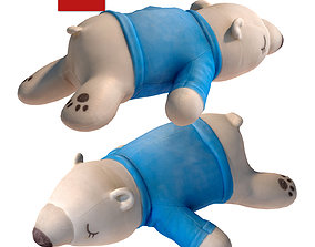3D asset Toy polar bear 131