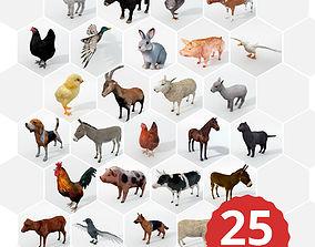 25 Farm - Domestic Animal Models 3D asset realtime