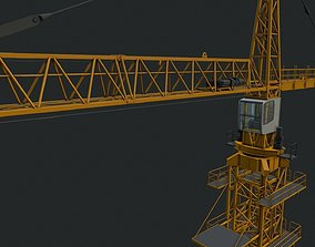 lift 3D model Tower Crane