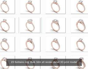 1000 engagement wedding solitaire ring bulk 3D