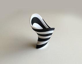 Zebra Vase Dual Extrusion - 2 Color 3D print model