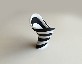 Zebra Vase Dual Extrusion - 2 Color 3D print model
