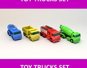 Toy Trucks Set 3D asset