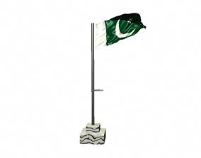 Pakistan Flag 3D model