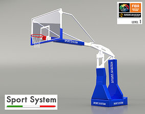 3D Portable basketball stand
