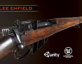 Lee Enfield WW2 Rifle PBR 3D asset