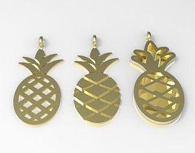 3D printable model pineapple charms 15x7 mm
