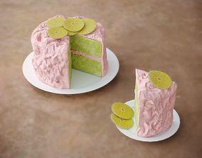 Cake with Pink Glaze 3D model