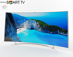 tv samsung oled curve 3D model