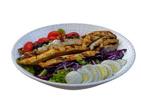 3D model Chicken Cobb Salad