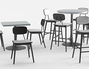 3D ISA International Scholar Barstool and Chair