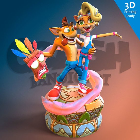 Crash Bandicoot 3D printing ready fanart