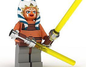 3D model LEGO Minfigure Ashoka Tano