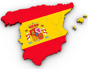 Map of Spain 3D