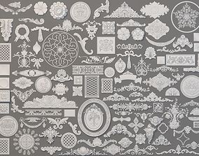 3D model Carved Elements Collection -1 - 110 pieces