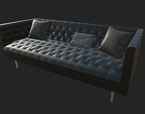 Chesterfield Sofa 3D asset game-ready PBR