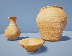 Rustic Terracotta Pottery 3D asset VR / AR ready