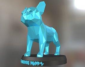 3D printable model Poly Bulldog Puppy