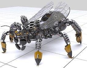 3D model Mehanical bee