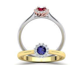Sapphire Engagement ring 3dmodel Promise ring Own