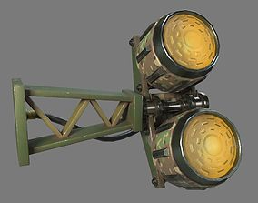 Military Lamp - 11 Low Poly 3D asset