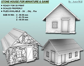 3D print model Stone House For Miniatures and Game