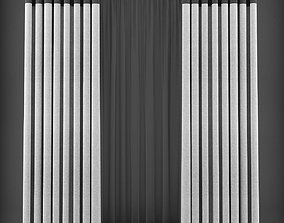 realtime Curtain 3D model 202
