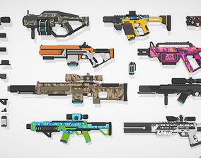 SciFi Gun Pack 3D model