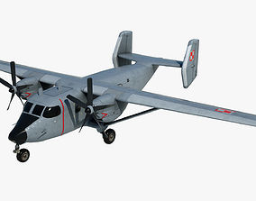 3D model Cargo and passenger plane M-28-Bryza
