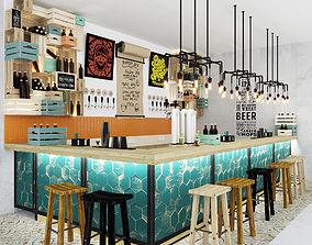 Bar counter Loft 3D