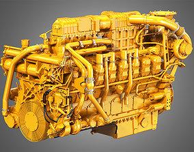 3516C HD Engine - V16 Industrial Diesel Engine 3D model
