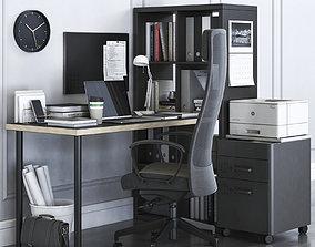 Ikea Kallax Office Workplace with Markus Chair 3D