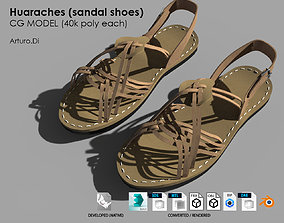 3D asset Huaraches Mexican traditional shoes