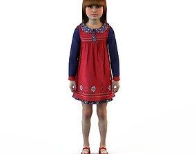 Girl dress t shirt skirt Baby clothes baby 3D