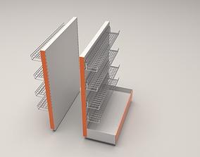 3D model commercial Shop shelf 2