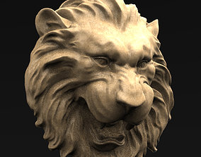 3dprint Lion Relief 2 3D model
