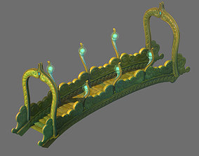 3D Game Model - Seabed - Seabed Golden Bridge