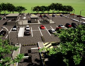 3D model Public Car Park Area