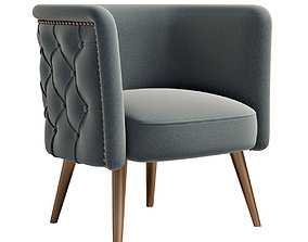 Uttermost Haider Accent Chair 3D