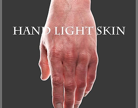 Hand Light skin LowPoly CG 3D model