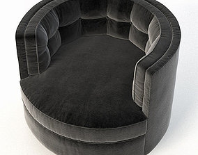 Milo Baughman barrel back swivel 3D model