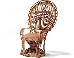 Wicker Chair 2 3D