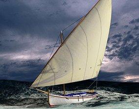 3D asset Latin Sail Fishing Boat